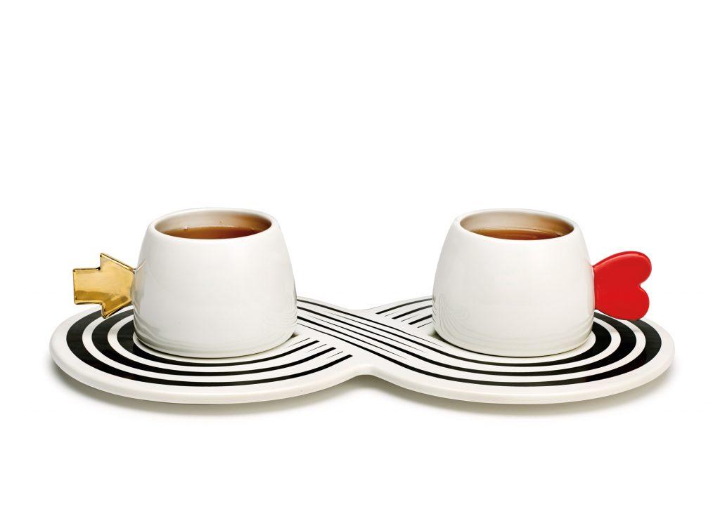 Architect, artist, and designer Marcello Morandini created Tea for Two (infinite love) for the collection, $125