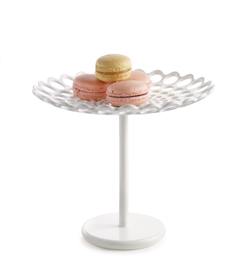 Anna Castelli Ferrieri's Cirri cookie stand, designed in 1991, is back in ABS plastic, $35