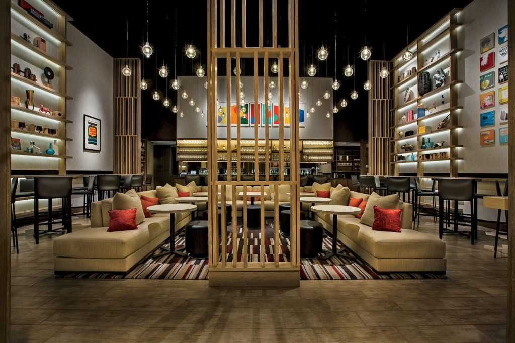 "Opened in 2014, the Aldo Sohm Wine Bar in Manhattan was designed by Bentel & Bentel to be a place where Sohm hoped guests would ""flop onto the sofa and forget all the day's difficulties."""