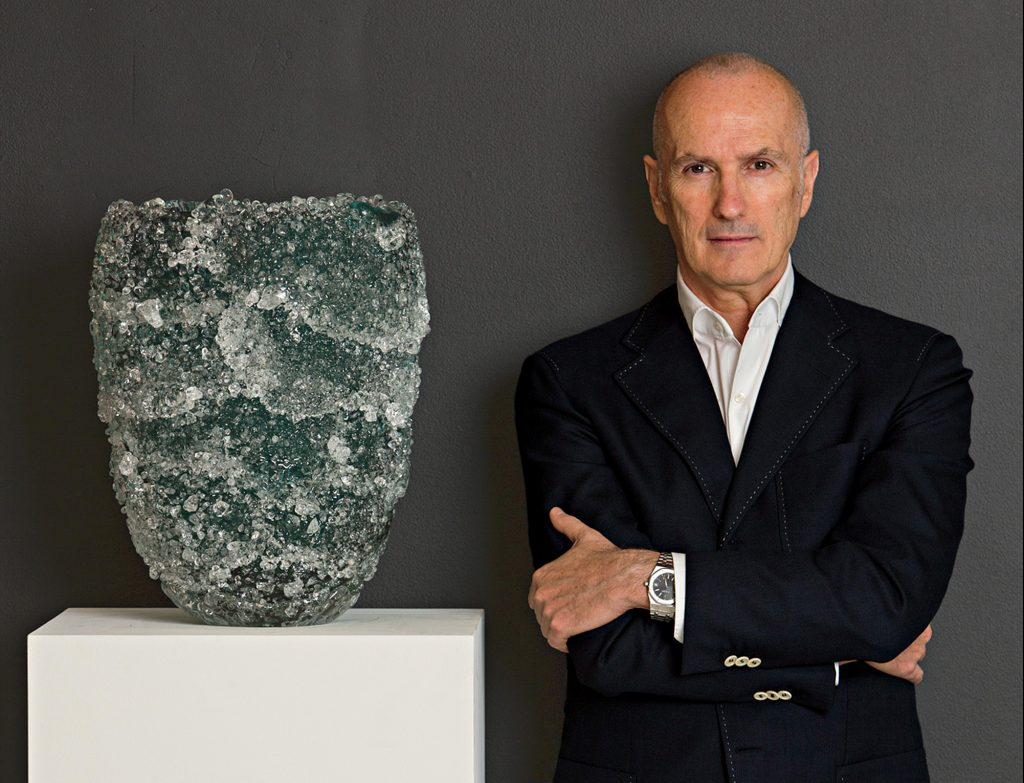 Micucci stands by his Granzioli vase.