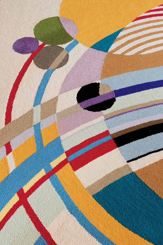 The Colorful Circular March Balloons Rug Was Reproduced To Replace The  Original Sold At Auction In 2010. The Geometric Pattern Is Inspired By A  Series Of ...