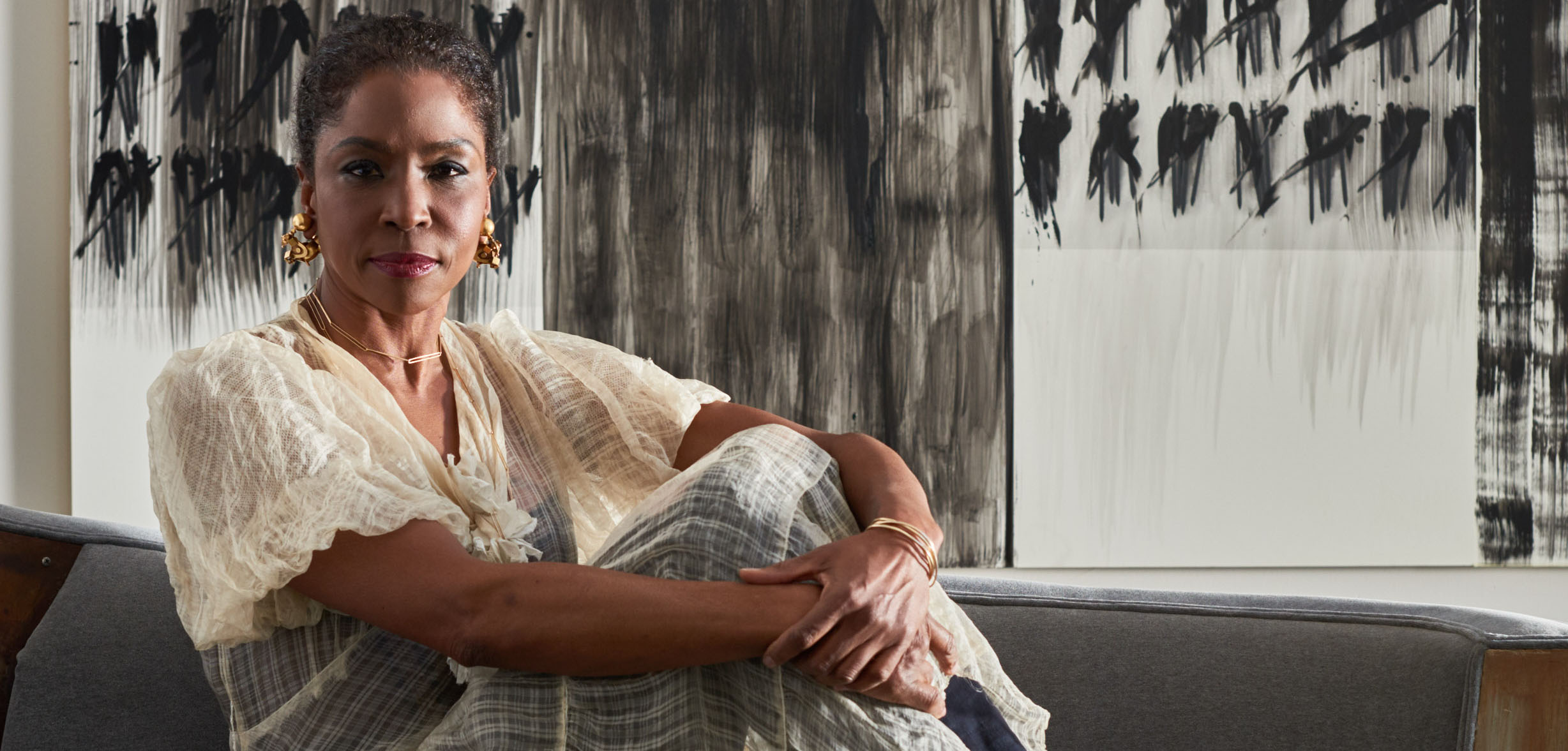 lorna simpson at her david adjaye�designed studio galerie