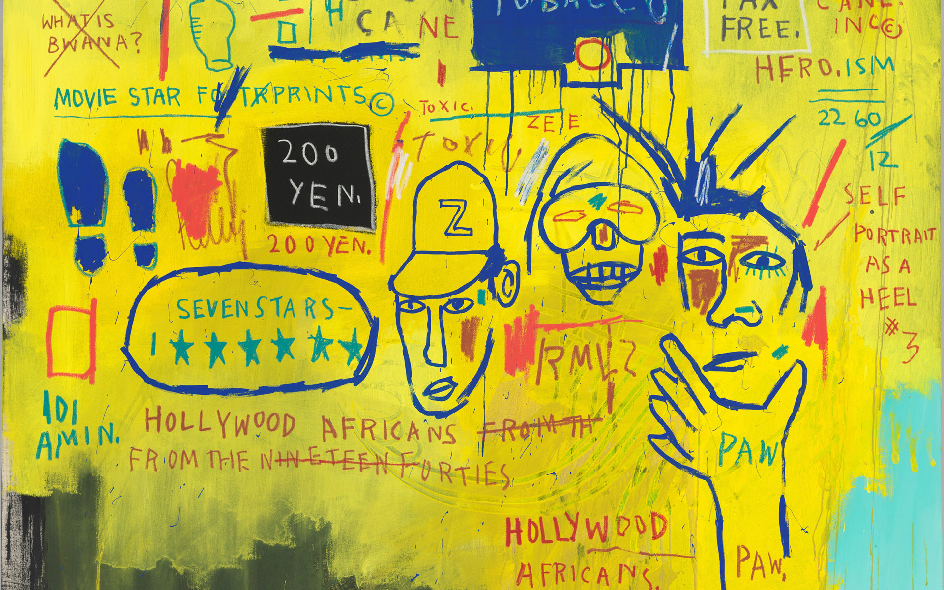 Jean michel basquiat hollywood africans 1983