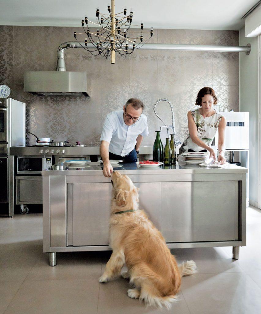 Massimo Bottura With His Wife, Lara Gilmore, In Their Kitchen In Modena,  Italy. Photo: Filippo Bamberghi