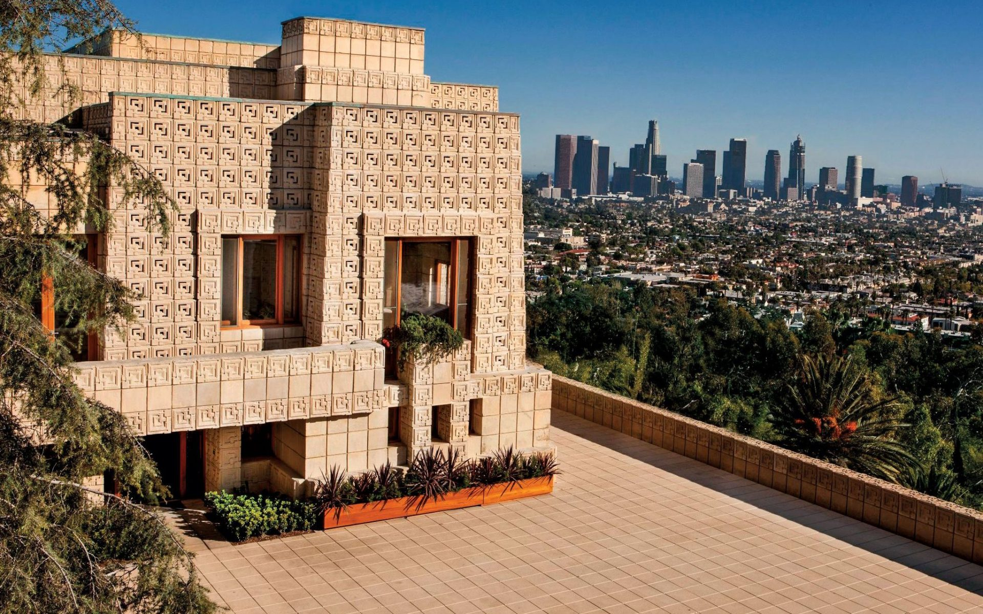 Frank lloyd wright s mayan revival home hits the market - Frank lloyd wright architecture style ...