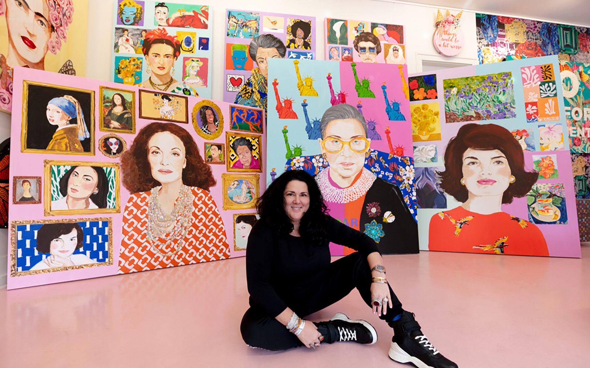 5a2d4b6d0 Diane von Furstenberg Enlists Ashley Longshore to Create Feminist Portrait  Series - Galerie