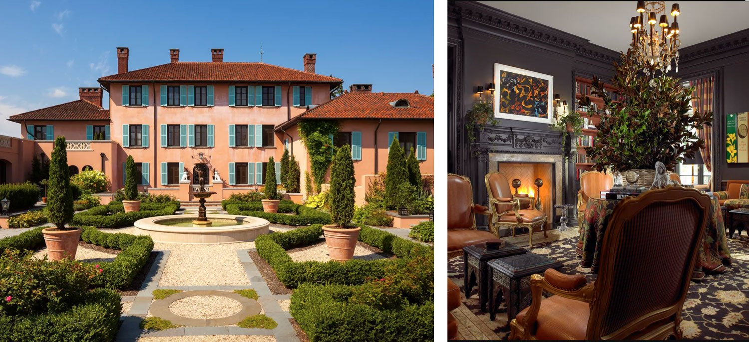 Glenmere Mansion transports guests to Tuscany with its Gilded-Age property and plush interiors.