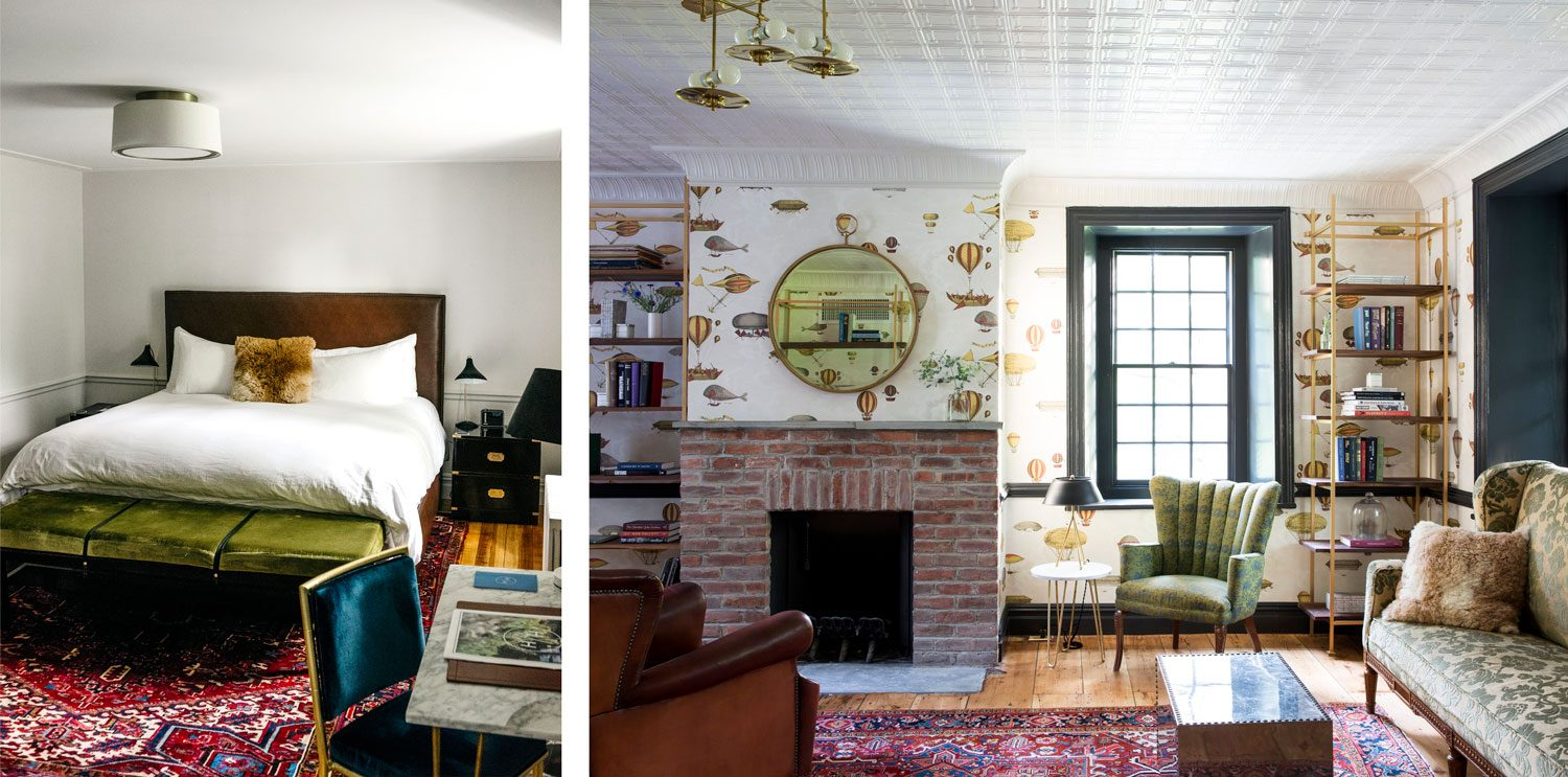 Hasbrouck House features jewel-toned interiors and whimsical charms throughout the 18th-century mansion it occupies.