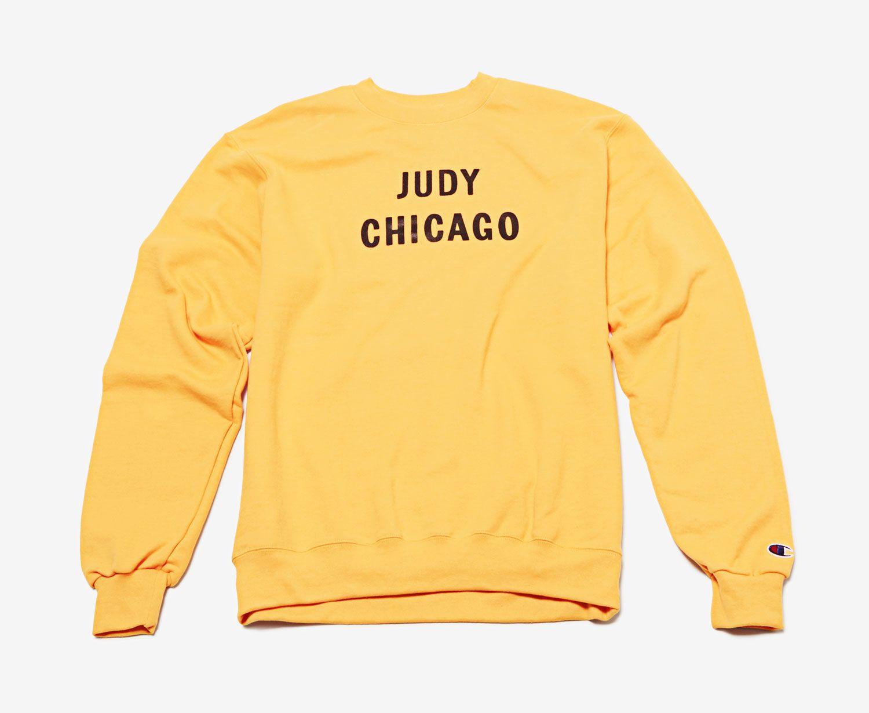 Prospect's Judy Chicago sweatshirt.