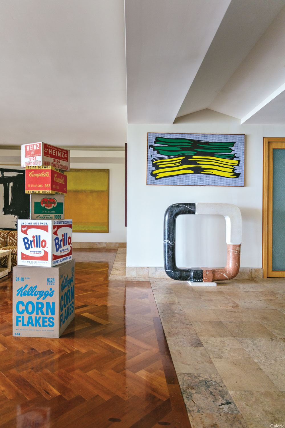 Works by Andy Warhol, Roy Lichtenstein, and Isamu Noguchi animate the Miami home of collector Martin Margulies.