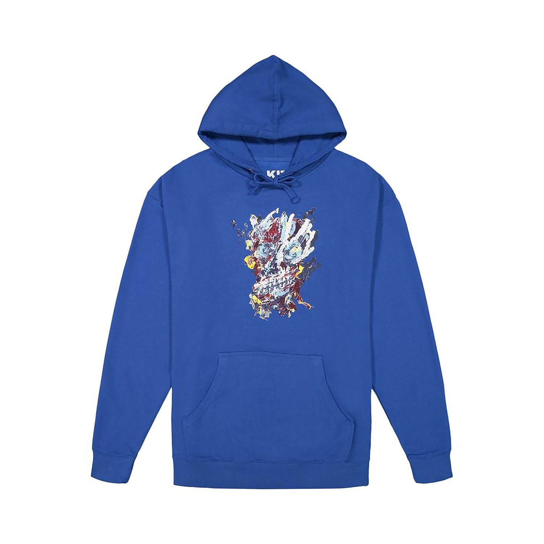 Kit's Mark Grotjahn Royal Skull hoodie.