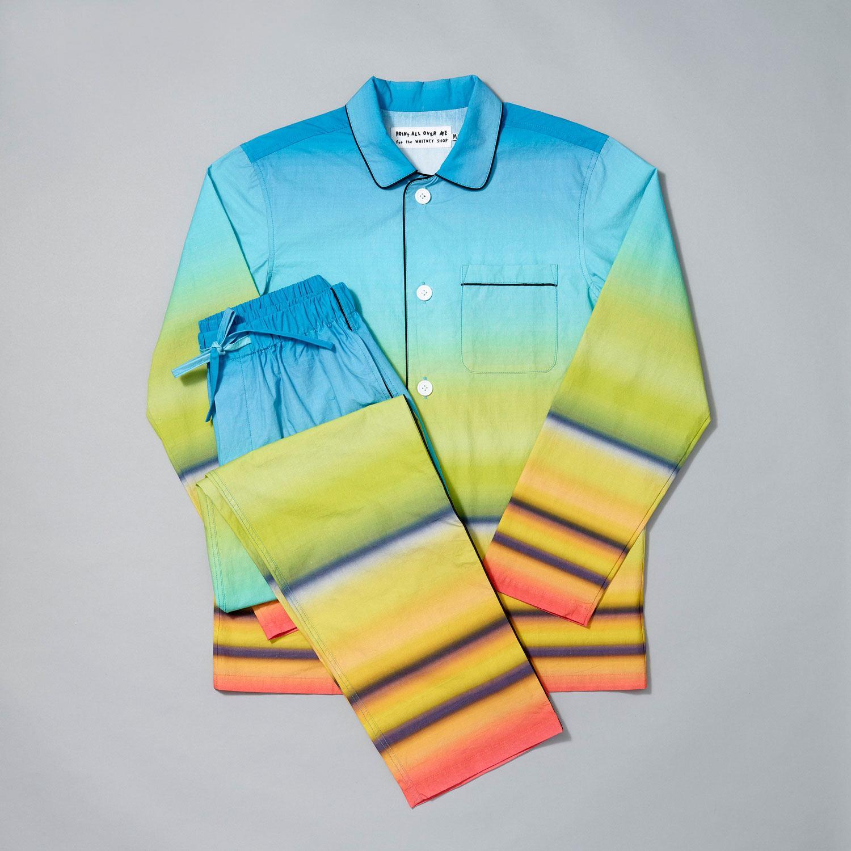 The Whitney Shop's Edward Hopper Railroad Sunset pajama set.