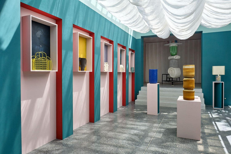 Inside Yovanovitch's boutique at the festival.