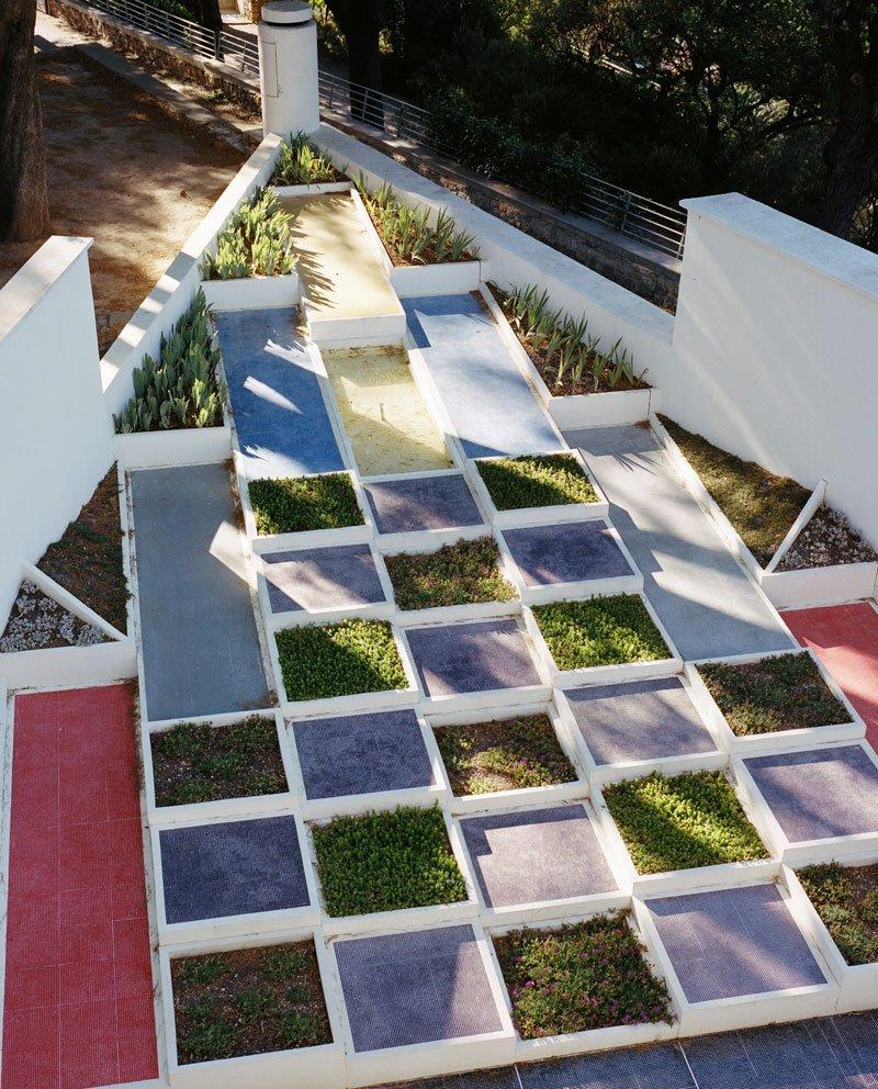 The villa's Cubist garden.