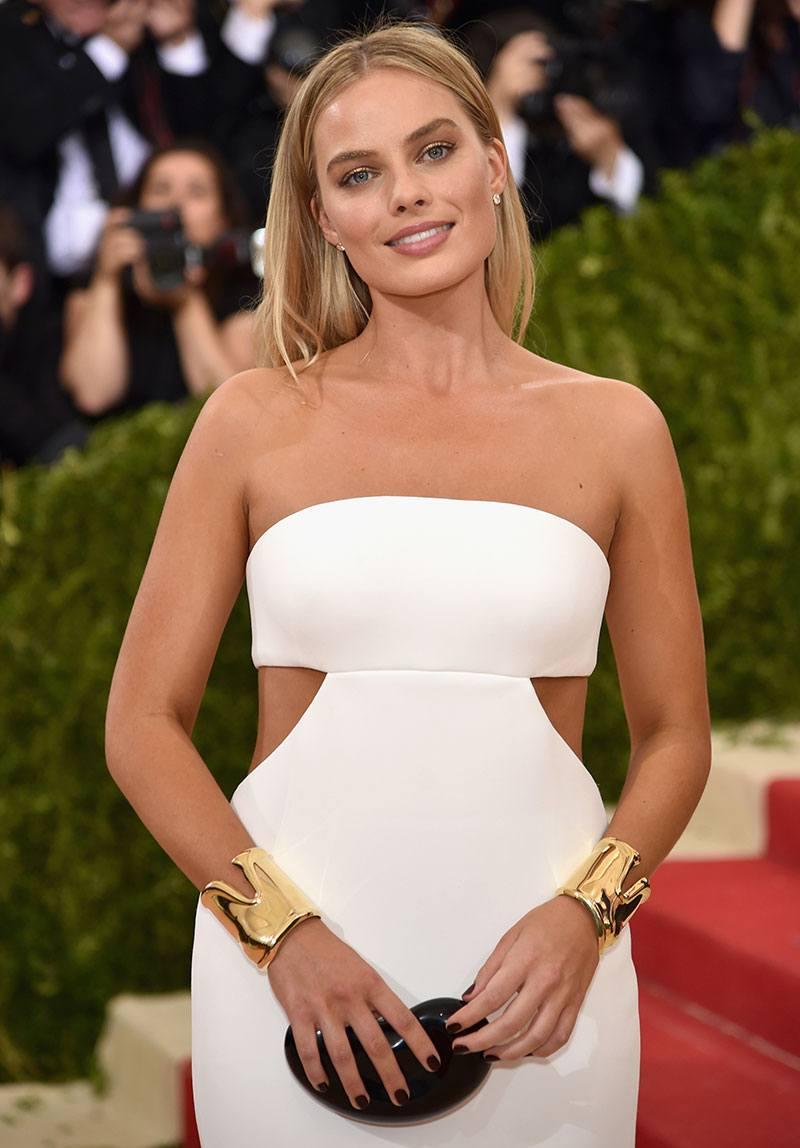 Margot Robbie wearing a Tiffany & Co. Bone Cuff