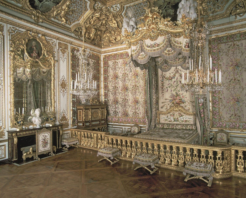 Marie Antoinette's bedchamber at Versailles.